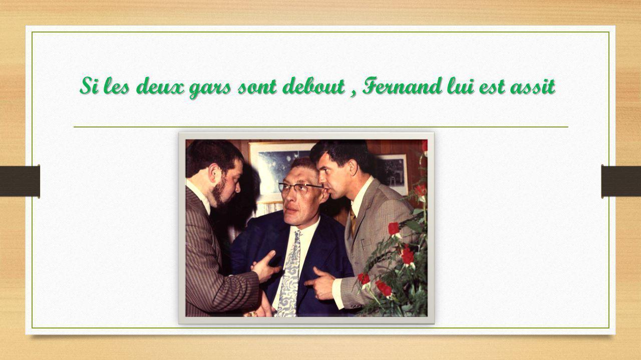 Avec ses deux amis, Jean Nohain et Fernand Raynaud
