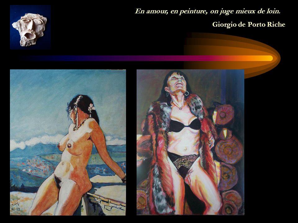 La peinture est une poésie qui se voit au lieu de se sentir et la poésie est une peinture qui se sent au lieu de se voir.