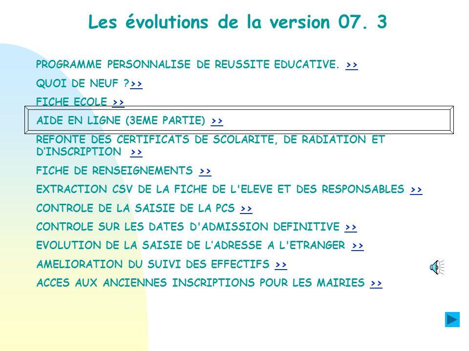 FICHE ECOLE Principe : Dans le bandeau de lapplication, le directeur peut cliquer sur le lien « Fiche école » La fiche école apparaît alors dans une fenêtre du navigateur.