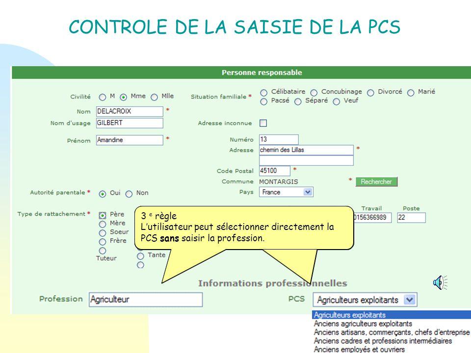 Objectif : Fiabiliser la saisie des P rofessions et C atégories S ocioprofessionnelles ( PCS) dans lapplication directeur et IA (école virtuelle) Prin