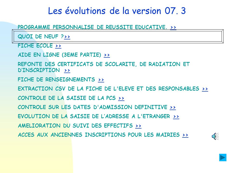EVOLUTION DE LA SAISIE DE LADRESSE A L ETRANGER Pour lélève :