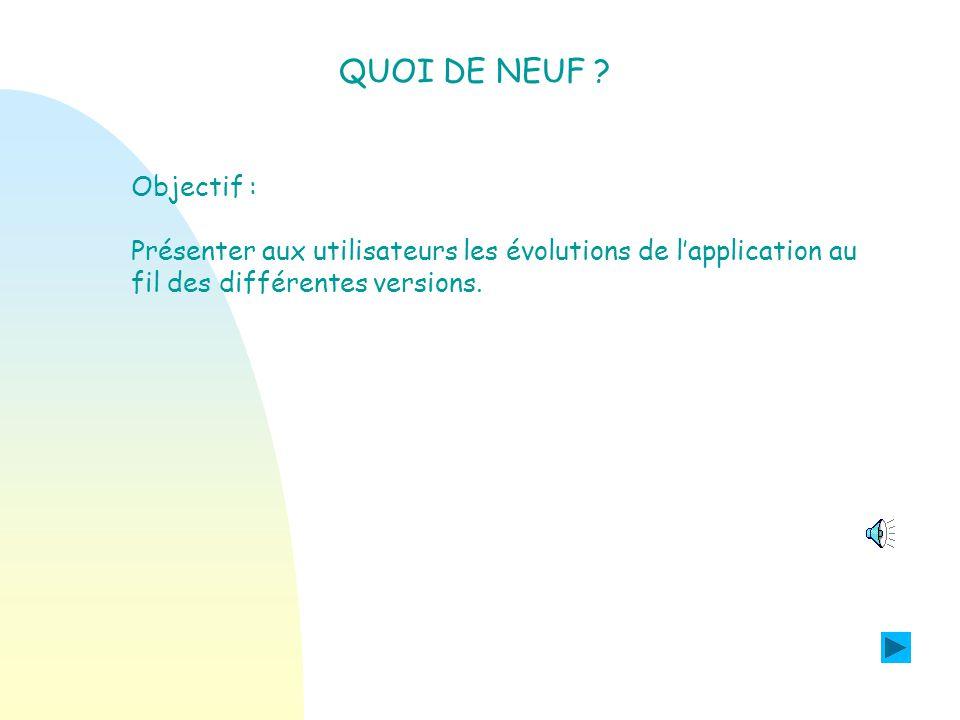 Les évolutions de la version 07.3 PROGRAMME PERSONNALISE DE REUSSITE EDUCATIVE.