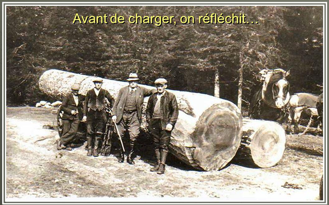 Un convoi de bois de chauffage pour le Hohneck