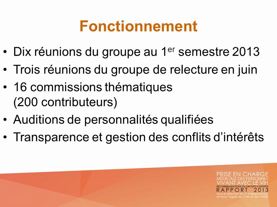 Fonctionnement Dix réunions du groupe au 1 er semestre 2013 Trois réunions du groupe de relecture en juin 16 commissions thématiques (200 contributeur