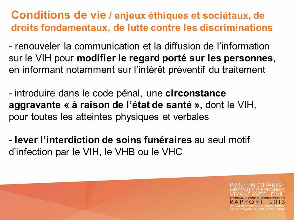 Conditions de vie / enjeux éthiques et sociétaux, de droits fondamentaux, de lutte contre les discriminations - renouveler la communication et la diff
