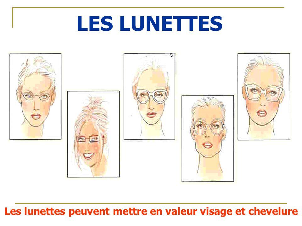 LES LUNETTES Les lunettes peuvent mettre en valeur visage et chevelure