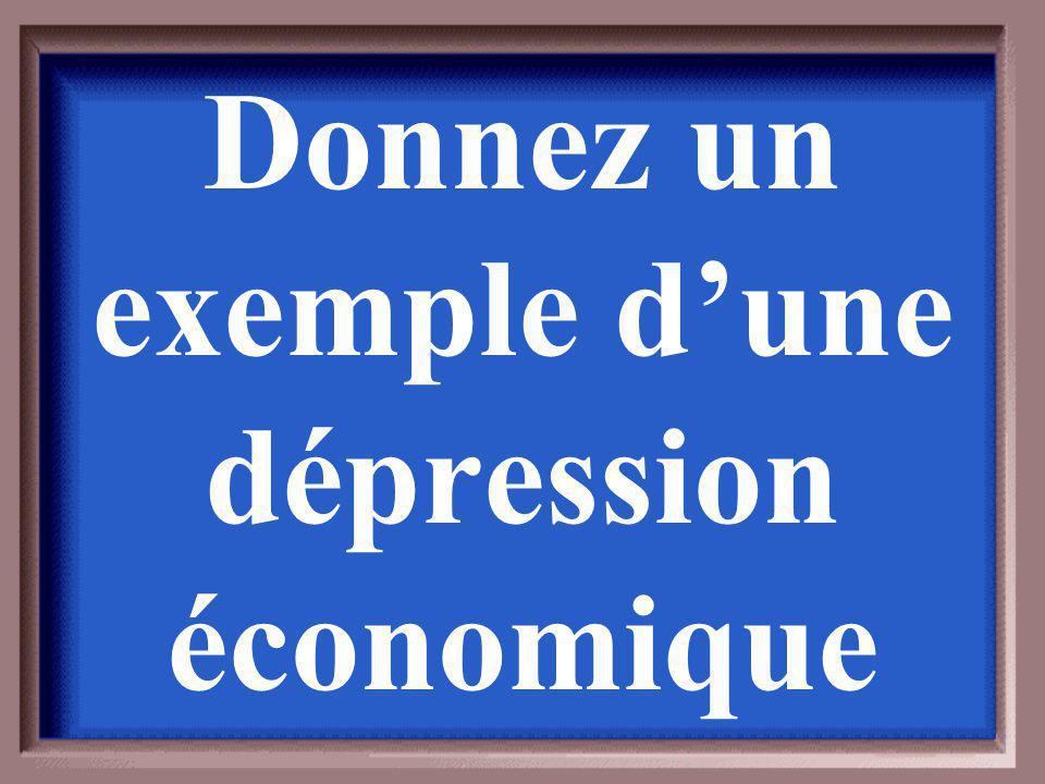 Les dépressions économiques