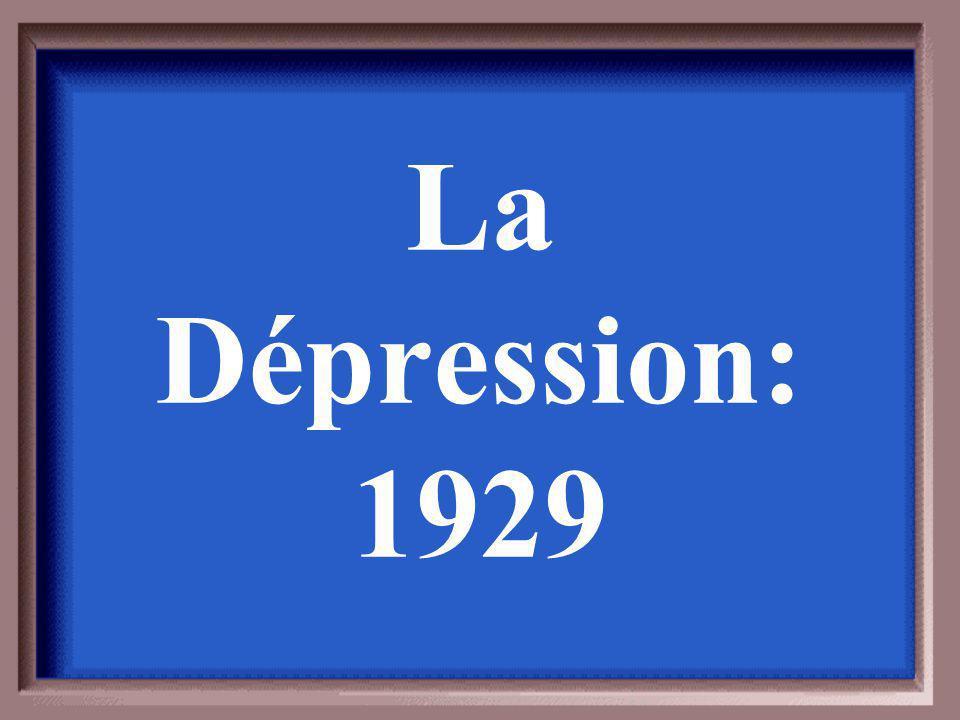 Donnez un exemple dune dépression économique