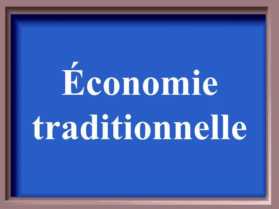 Économie traditionnelle