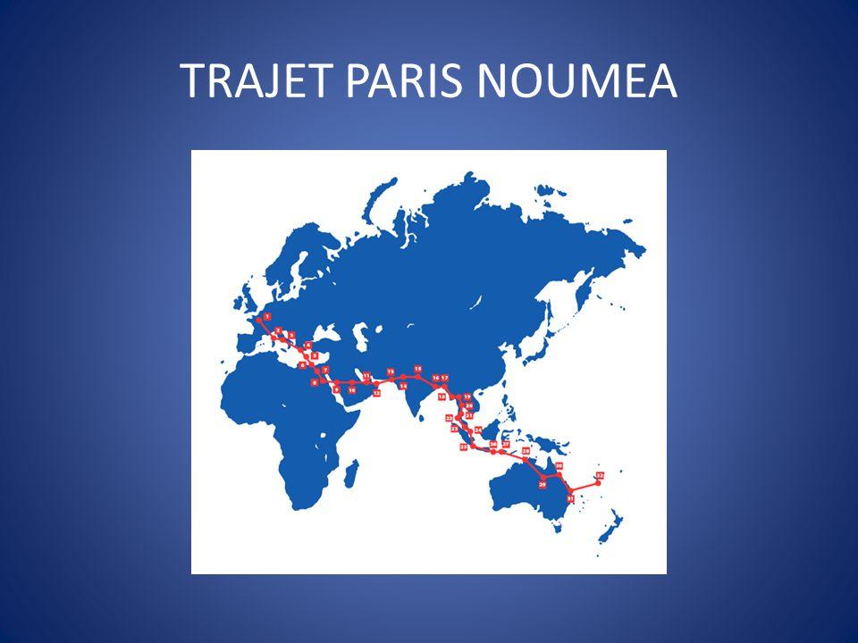 TRAJET PARIS NOUMEA