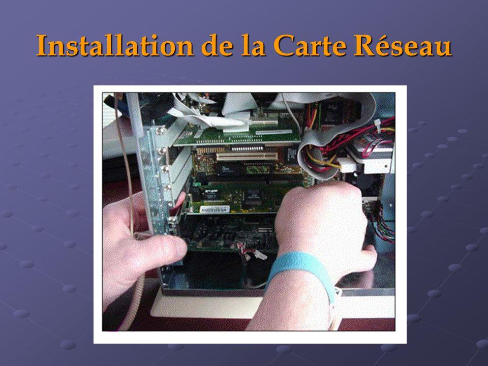 Installation de la Carte Réseau