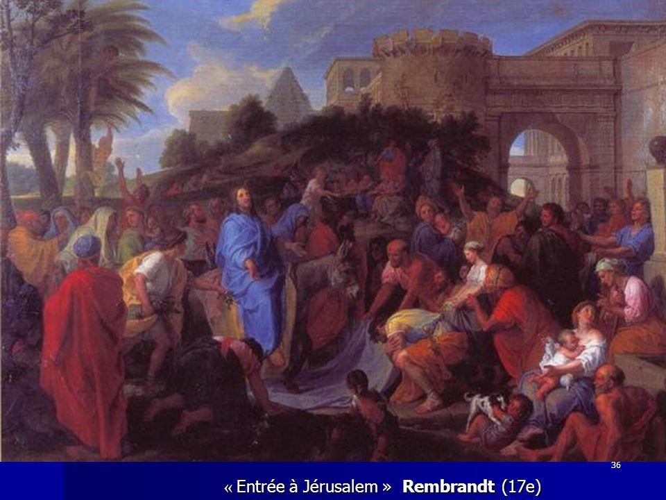« Entrée à Jérusalem » Rembrandt (17e) 36