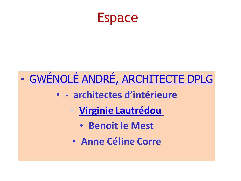 Espace GWÉNOLÉ ANDRÉ, ARCHITECTE DPLG - architectes dintérieure Virginie Lautrédou Benoit le Mest Anne Céline Corre