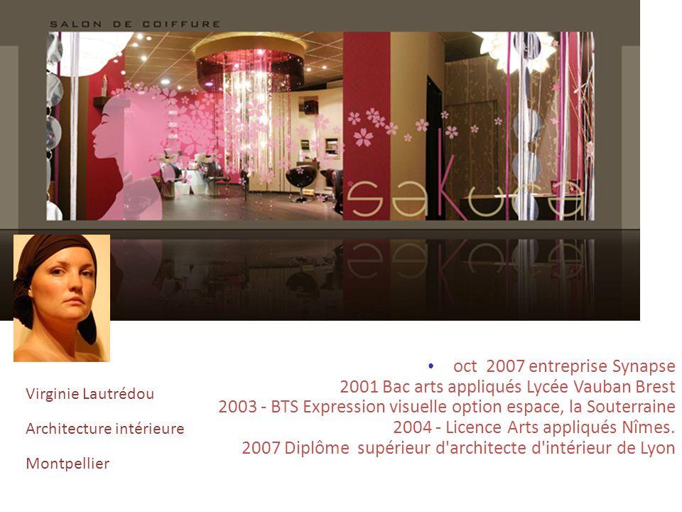 oct 2007 entreprise Synapse 2001 Bac arts appliqués Lycée Vauban Brest 2003 - BTS Expression visuelle option espace, la Souterraine 2004 - Licence Art