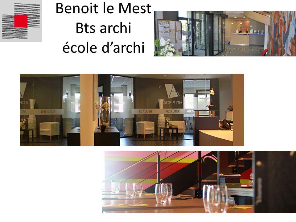 Benoit le Mest Bts archi école darchi
