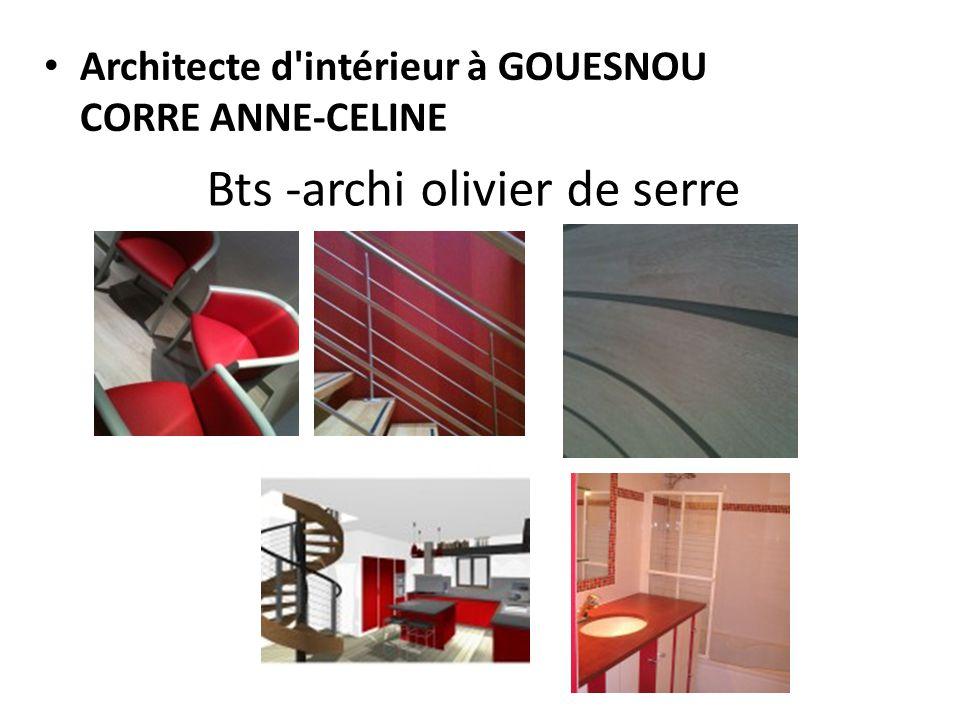 Bts -archi olivier de serre Architecte d'intérieur à GOUESNOU CORRE ANNE-CELINE Galerie photos : nous travaillons pour vous Galerie photos : nous trav