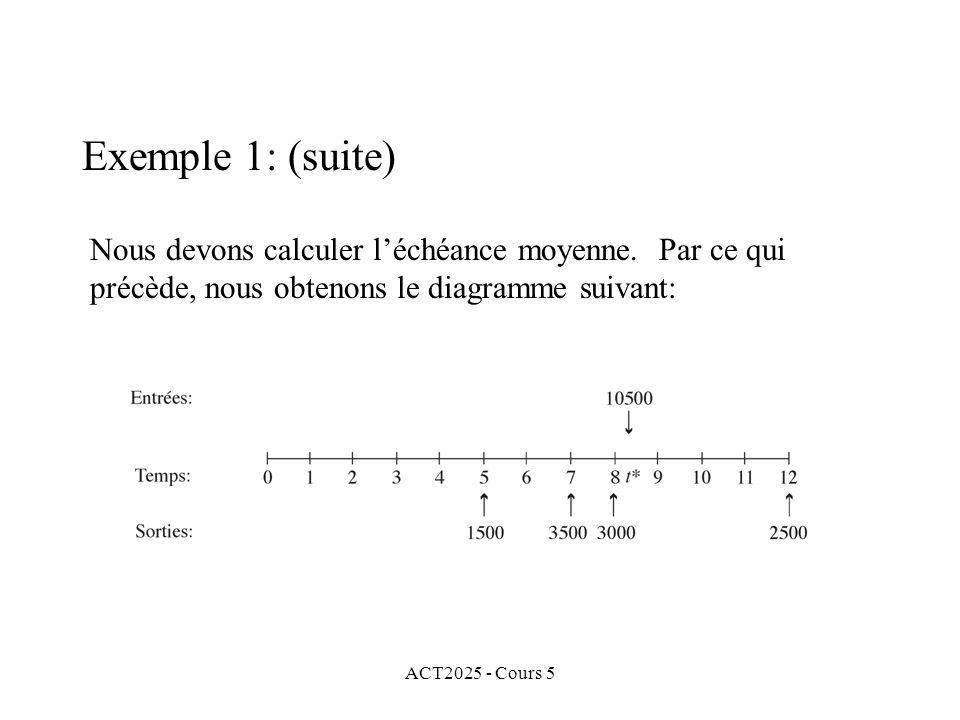 ACT2025 - Cours 5 Nous devons calculer léchéance moyenne.