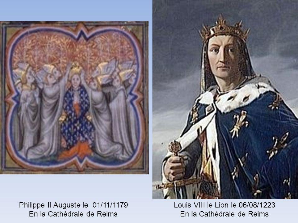 Philippe de France le 14/04/1129 en la Cathédrale de Reims Louis VII le 25/10/1131 en la Cathédrale de Reims