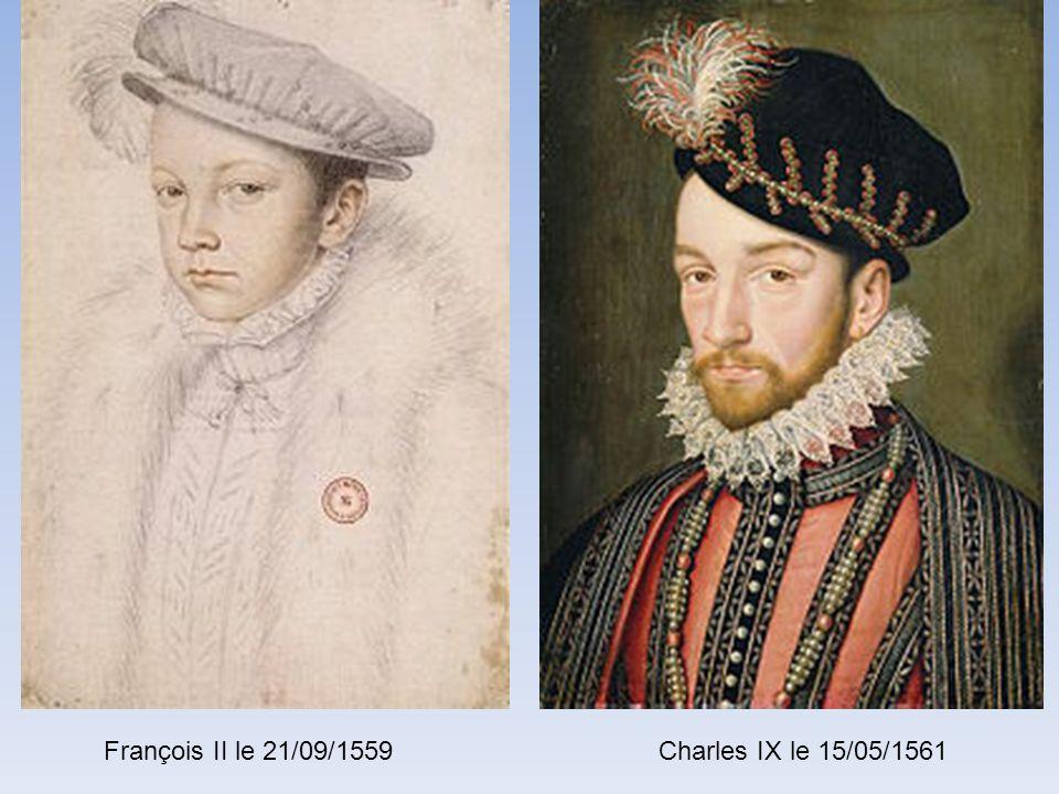 François 1 er le 25/01/1515 En la Cathédrale de Reims Henri II le 26/07/1547 En la Cathédrale de Reims