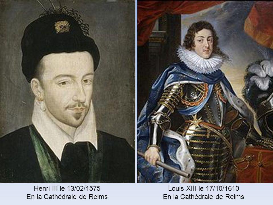 François II le 21/09/1559Charles IX le 15/05/1561