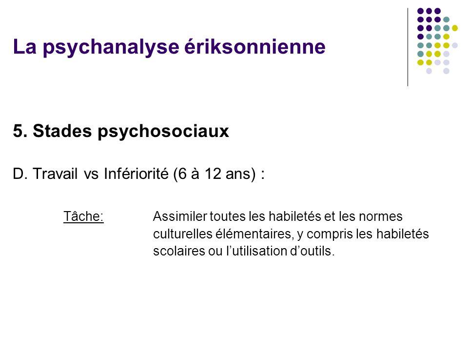 5.Stades psychosociaux D.