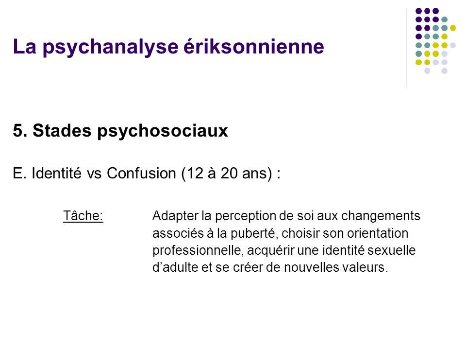 5.Stades psychosociaux E.