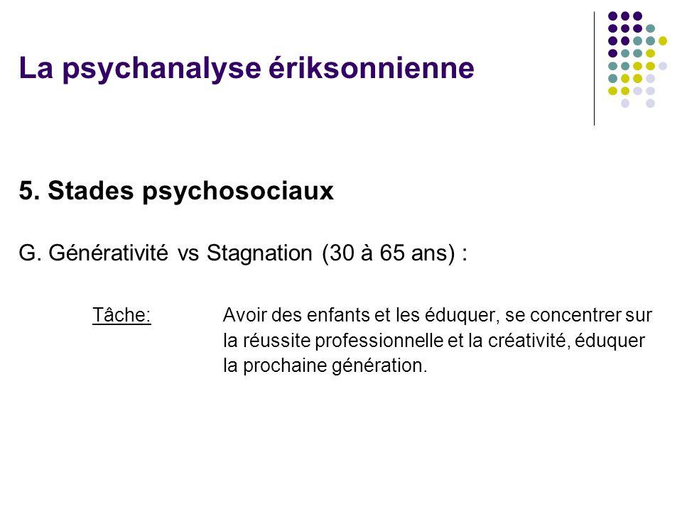 5.Stades psychosociaux G.