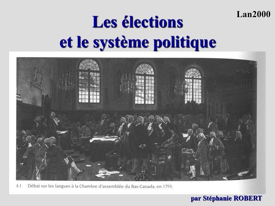Les élections et le système politique. Lan2000 par Stéphanie ROBERT