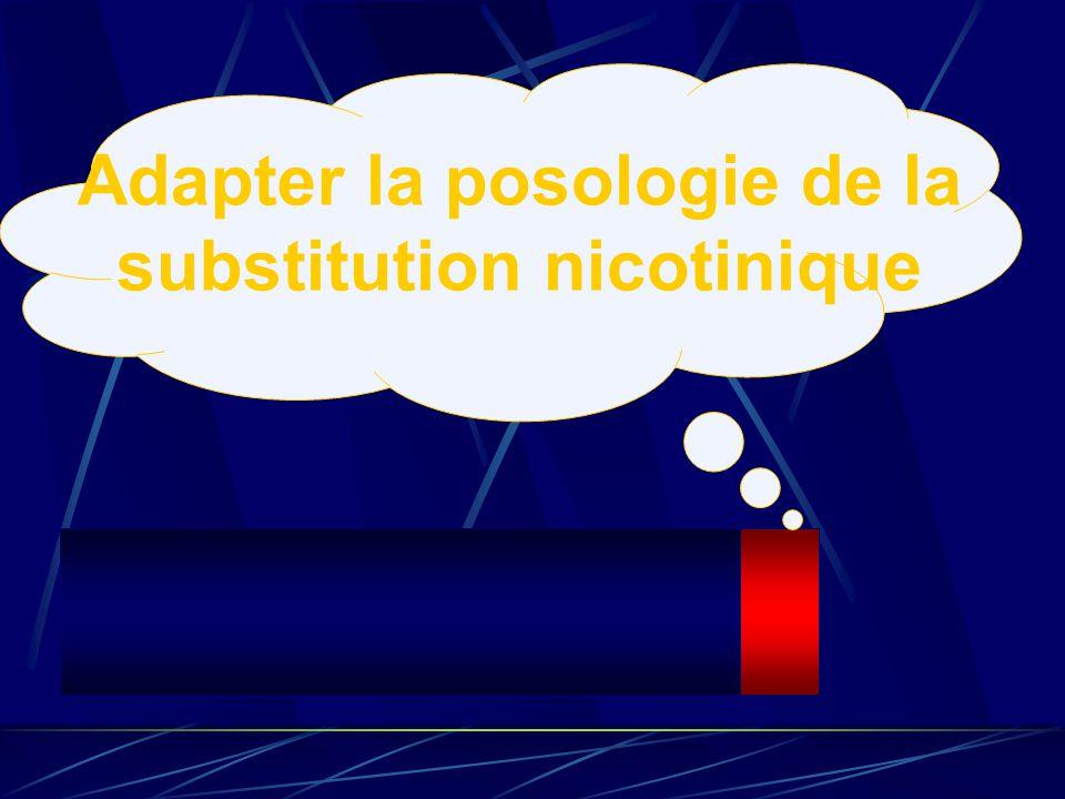 Adapter la posologie de la substitution nicotinique