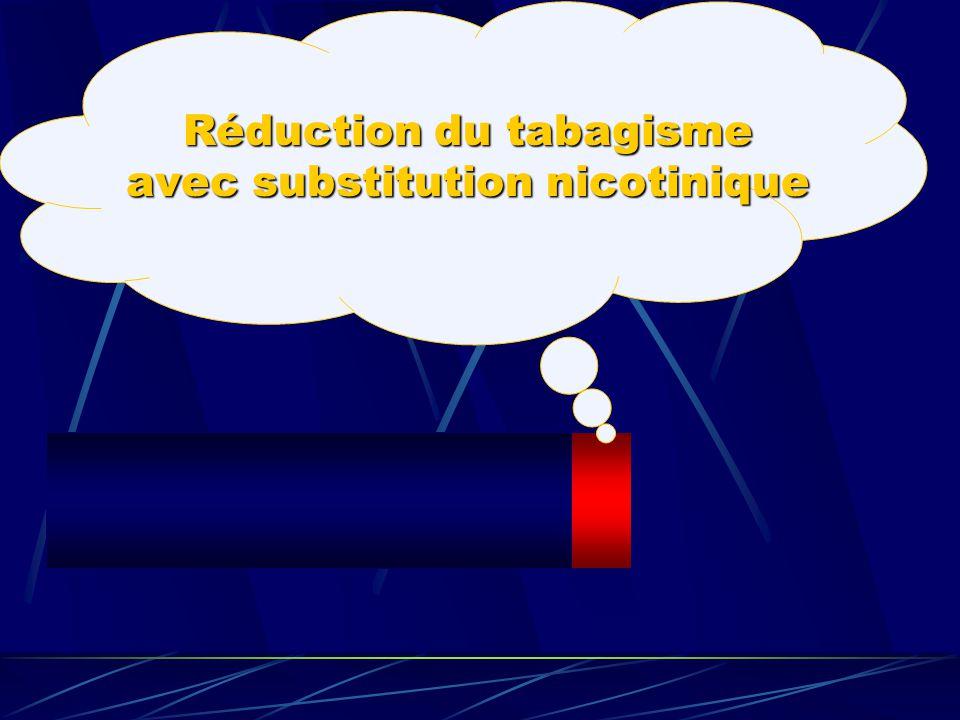 Réduction du tabagisme avec substitution nicotinique