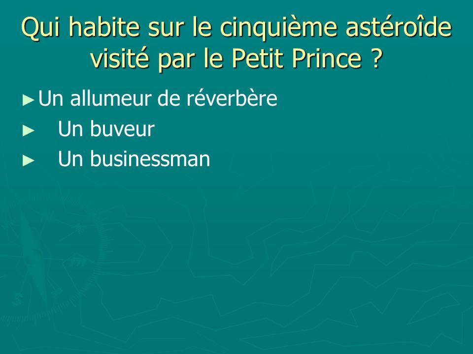 Qui habite sur le cinquième astéroîde visité par le Petit Prince .