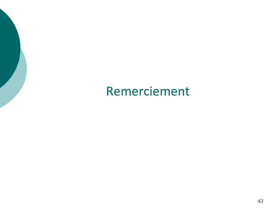 43 Remerciement