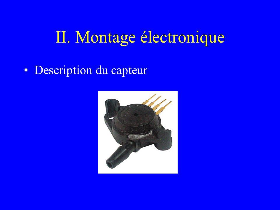 II. Montage électronique Description du capteur