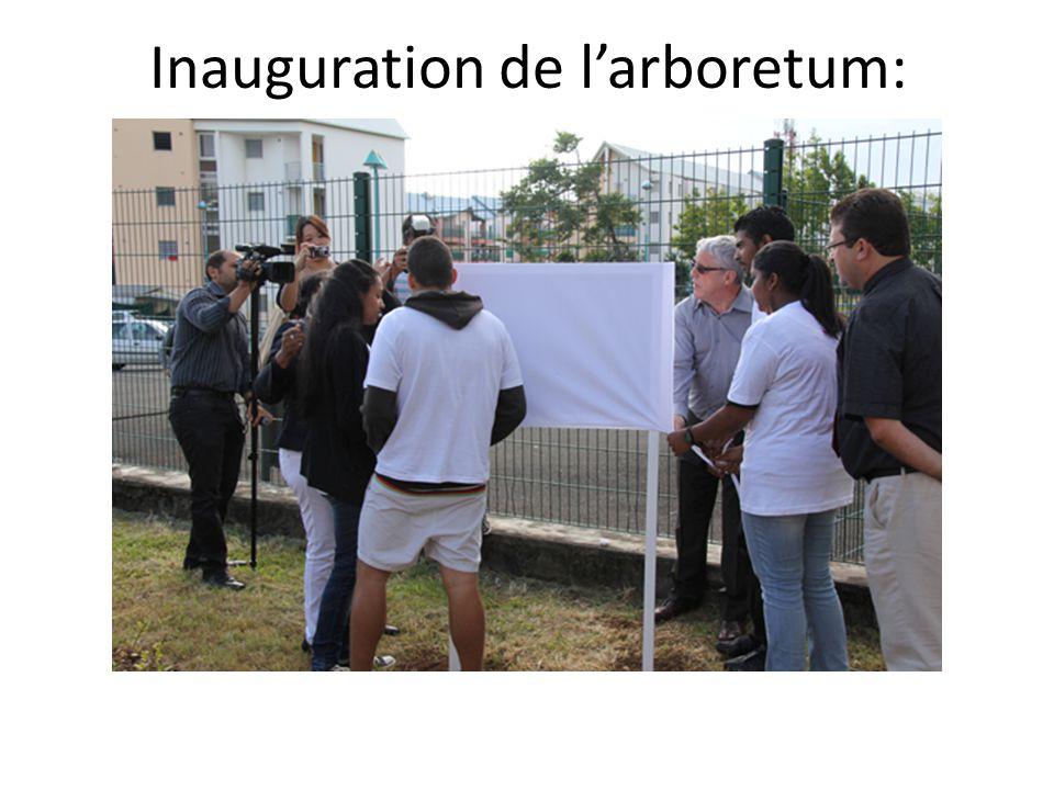 Inauguration de larboretum: