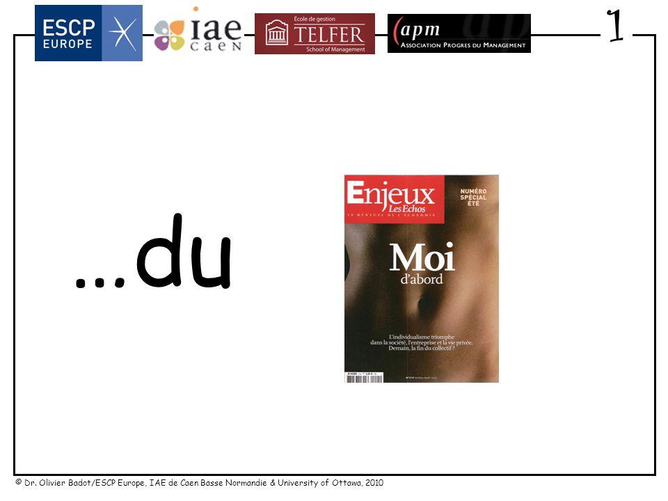 © Dr. Olivier Badot/ESCP Europe, IAE de Caen Basse Normandie & University of Ottawa, 2010 « Une carence en caressage » Robert Ebguy (CCA) 1