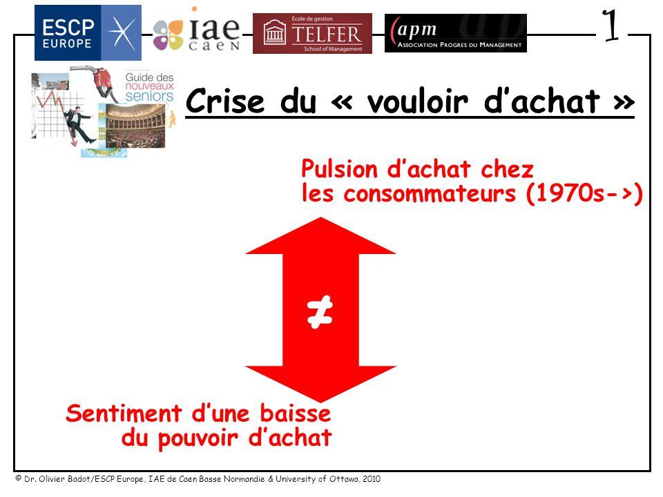 © Dr. Olivier Badot/ESCP Europe, IAE de Caen Basse Normandie & University of Ottawa, 2010 Crise du « vouloir dachat » 1 « Lécart important qui sest in