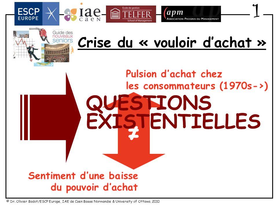 © Dr. Olivier Badot/ESCP Europe, IAE de Caen Basse Normandie & University of Ottawa, 2010 Crise du « vouloir dachat » 1 FRUSTRATION