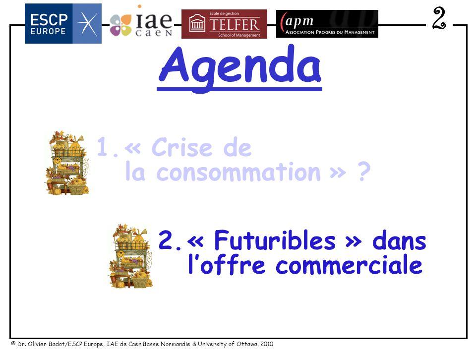 © Dr. Olivier Badot/ESCP Europe, IAE de Caen Basse Normandie & University of Ottawa, 2010 Crise du « vouloir dachat » 1 QUESTIONS EXISTENTIELLES