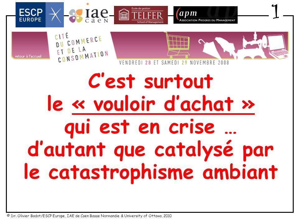 © Dr. Olivier Badot/ESCP Europe, IAE de Caen Basse Normandie & University of Ottawa, 2010 Agenda 1.« Crise de la consommation » ? 2.« Futuribles » dan