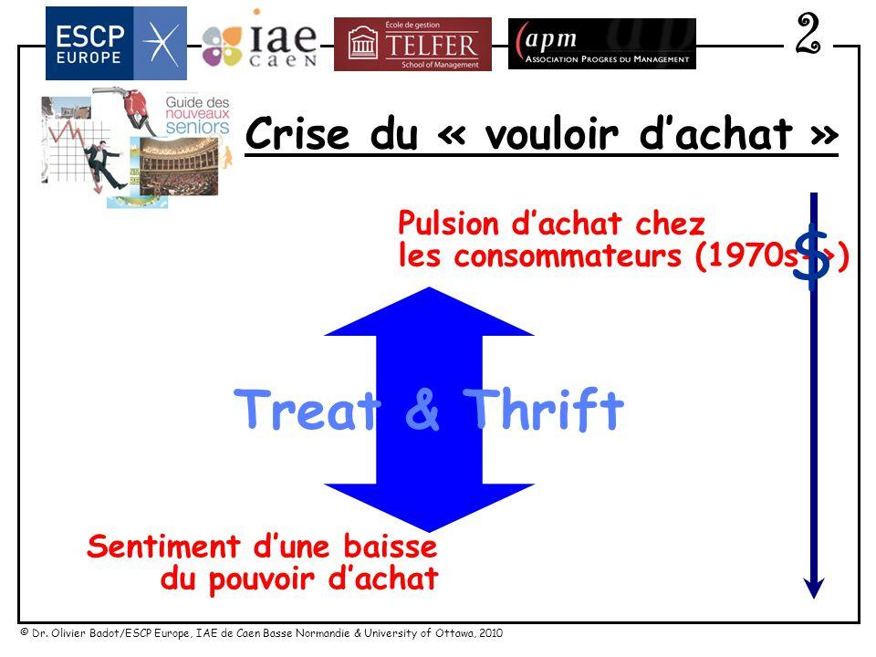 © Dr. Olivier Badot/ESCP Europe, IAE de Caen Basse Normandie & University of Ottawa, 2010 Vers une offre polarisée ? Plaisirs Wouahh … accessibles 2 $