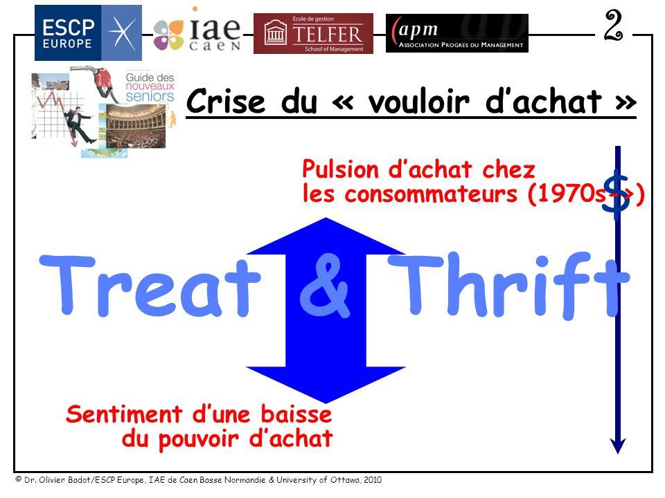 © Dr. Olivier Badot/ESCP Europe, IAE de Caen Basse Normandie & University of Ottawa, 2010 Crise du « vouloir dachat » Treat & Thrift Pulsion dachat ch