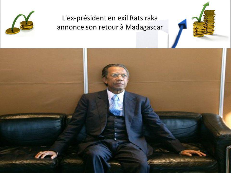 L'ex-président en exil Ratsiraka annonce son retour à Madagascar