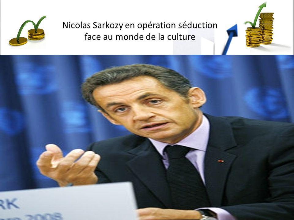 Nicolas Sarkozy en opération séduction face au monde de la culture