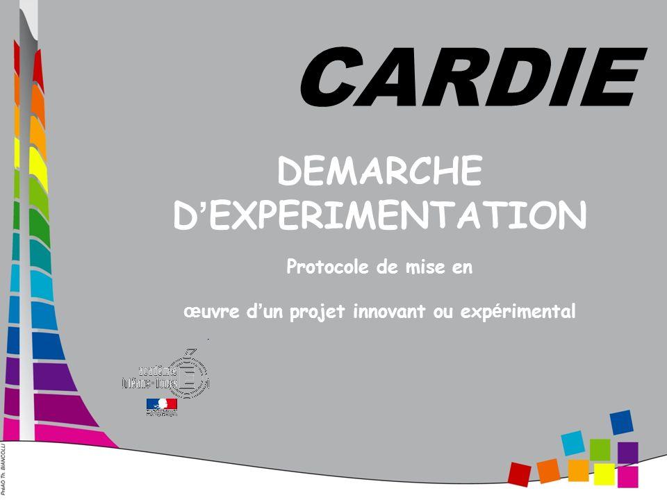 DEMARCHE D EXPERIMENTATION Protocole de mise en œ uvre d un projet innovant ou exp é rimental