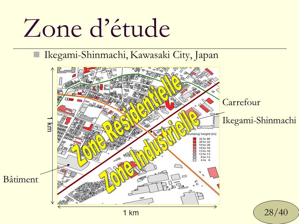 Zone détude Ikegami-Shinmachi, Kawasaki City, Japan 1 km Carrefour Ikegami-Shinmachi Bâtiment 28/40