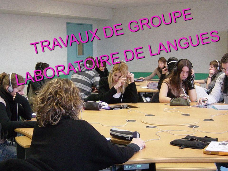 TRAVAUX DE GROUPE LABORATOIRE DE LANGUES