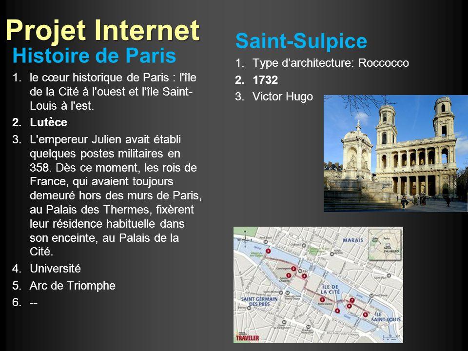 Projet Internet Histoire de Paris 1.le cœur historique de Paris : l'île de la Cité à l'ouest et l'île Saint- Louis à l'est. 2.Lutèce 3.L'empereur Juli
