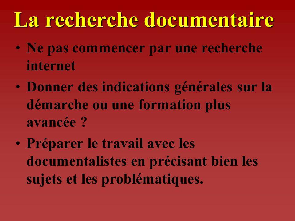 La réalisation des TPE Travail de recherche documentaire - relation recherche/sujet - diversité des sources - relation avec les documentalistes (*)