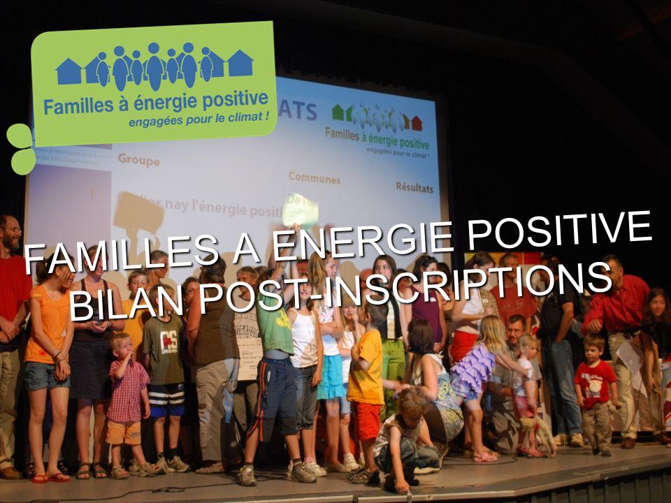 www.familles-a-energie- positive.fr FAMILLES A ENERGIE POSITIVE BILAN POST-INSCRIPTIONS