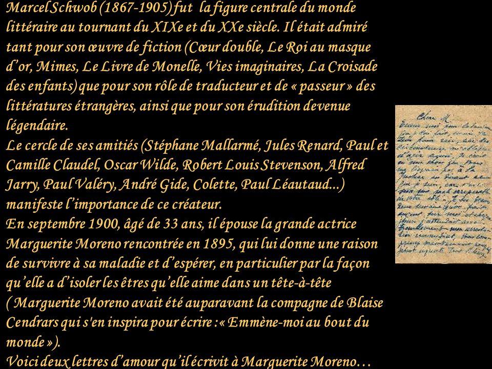 Daniel récite deux lettres damour de Marcel Schowb à Marguerite Moreno Cliquez pour avancer